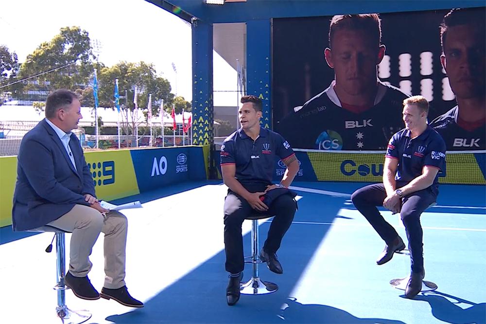 Toomua & Hodge - Rugby stars take on the Fastest Serve challenge