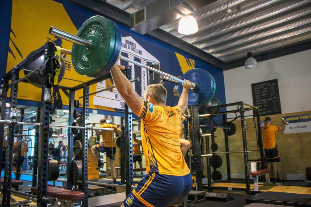 Plus500 Brumbies in the gym ahead of Waratahs clash