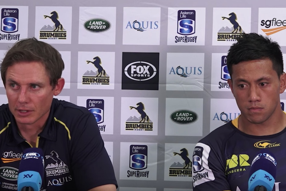 Round 1 Press Conference. Brumbies 52-10 winners over the Hurricanes