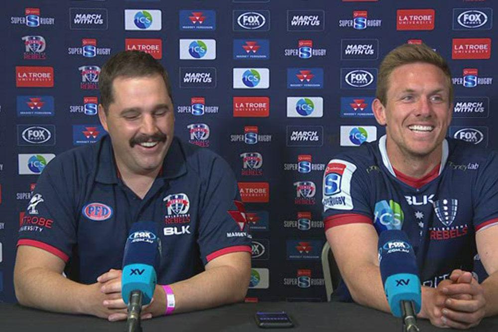 Vodafone Super Rugby AU Round Ten: Melbourne Rebels press conference