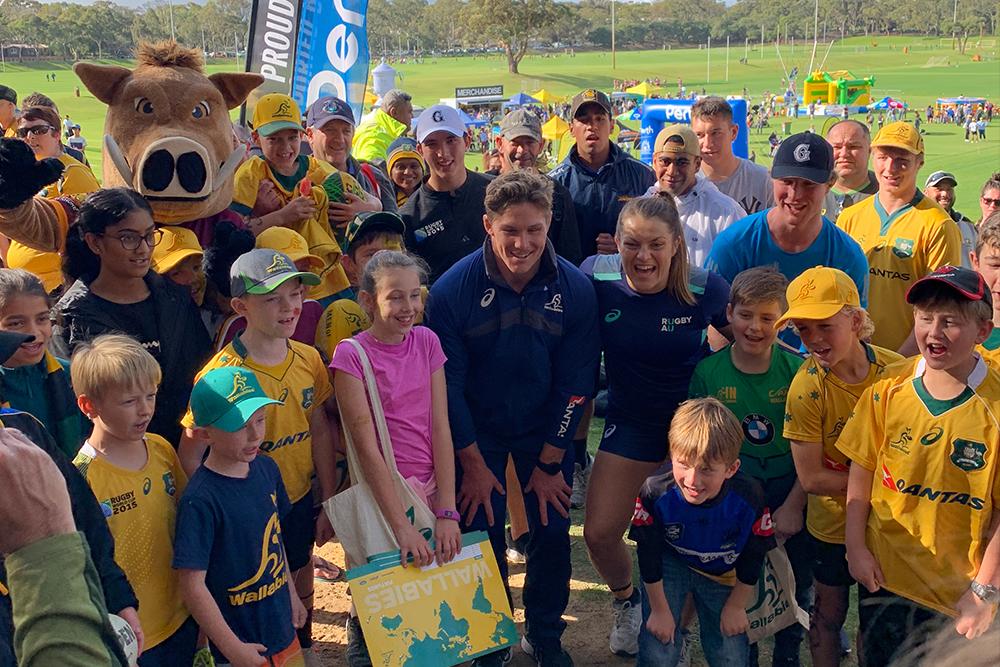 Wallabies, Wallaroos touch down in Perth