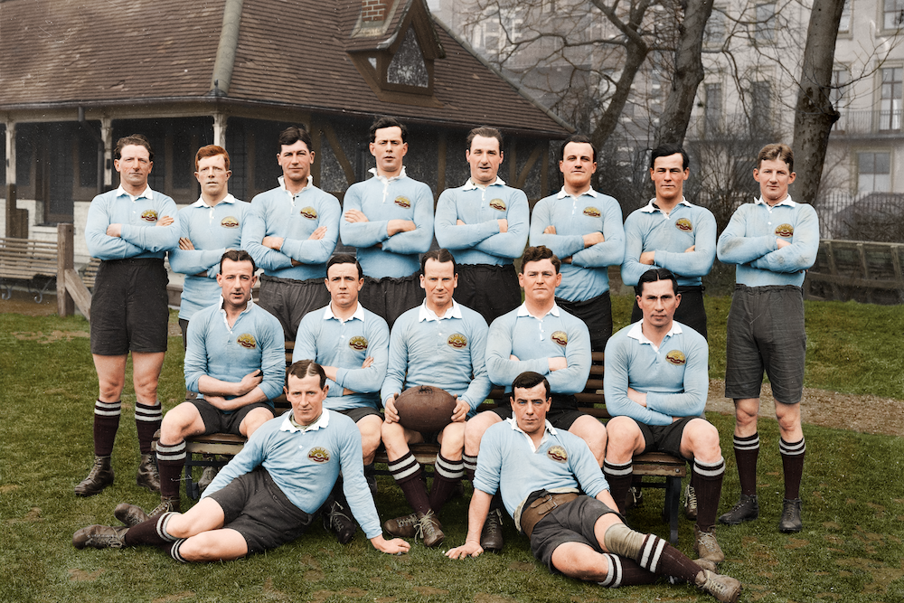 The Australian Imperial Force XV in London in March 1919, ahead of the King's Cup tournament. Photo: Australian War Memorial