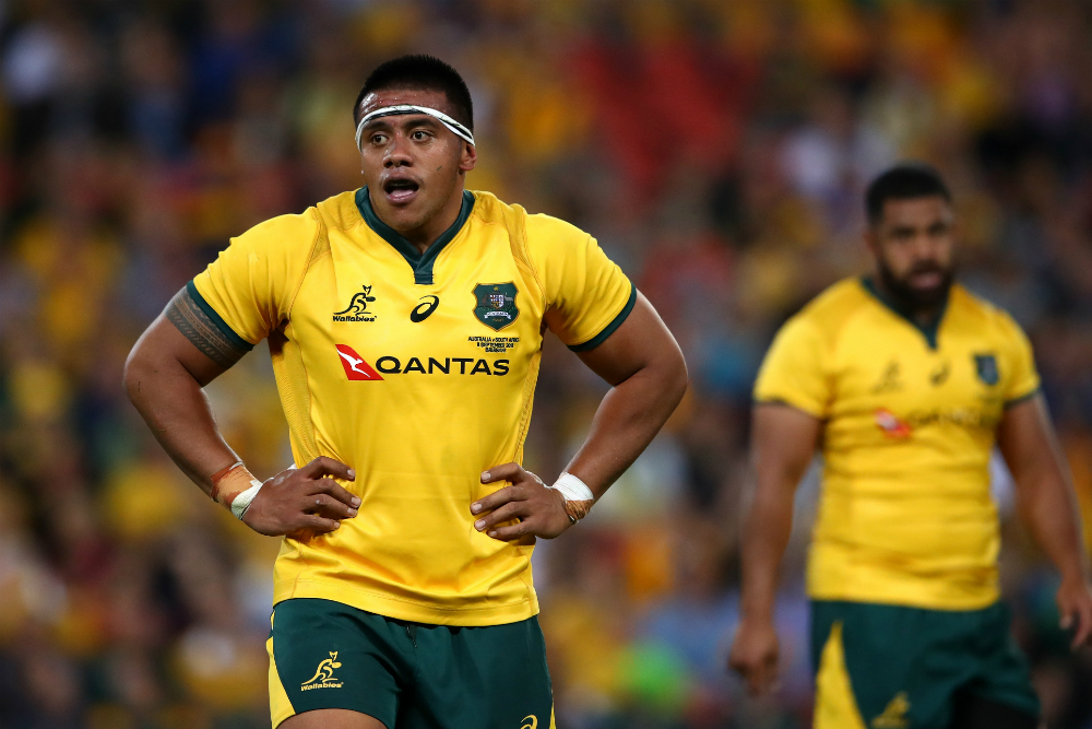 Allan Alaalatoa is set to sign a fresh five year extension with the Brumbies and Rugby Australia. Photo: Getty Images