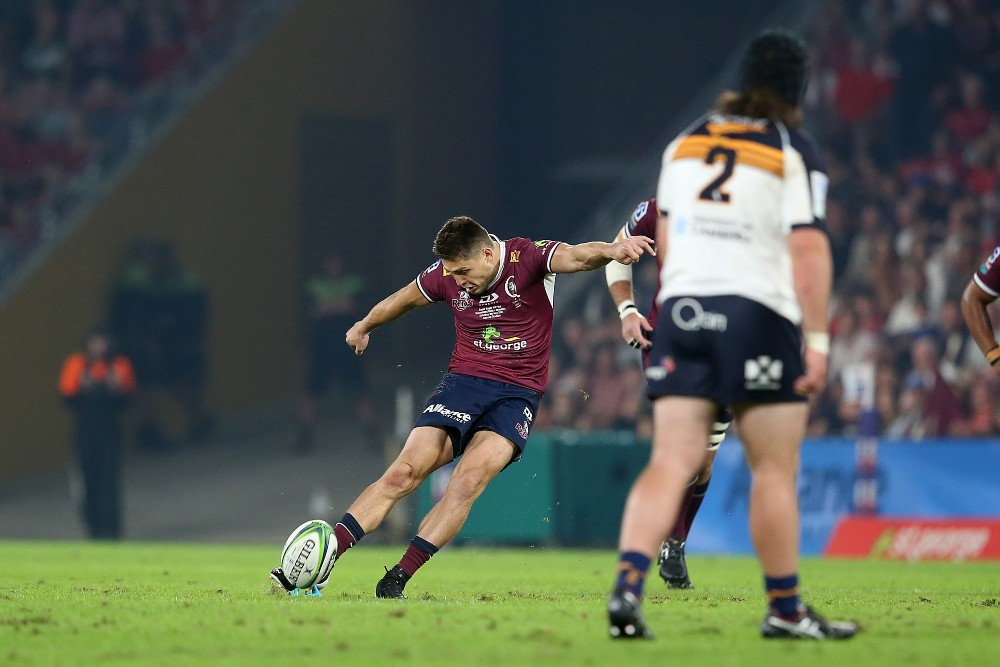 James O'Connor slots the early points in the Super Rugby AU Final. Photo: Getty Images