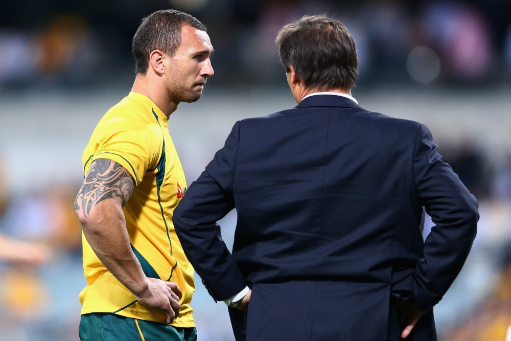 Quade Cooper is set to face off against his old Wallabies coach Robbie Deans. Photo: Getty Images
