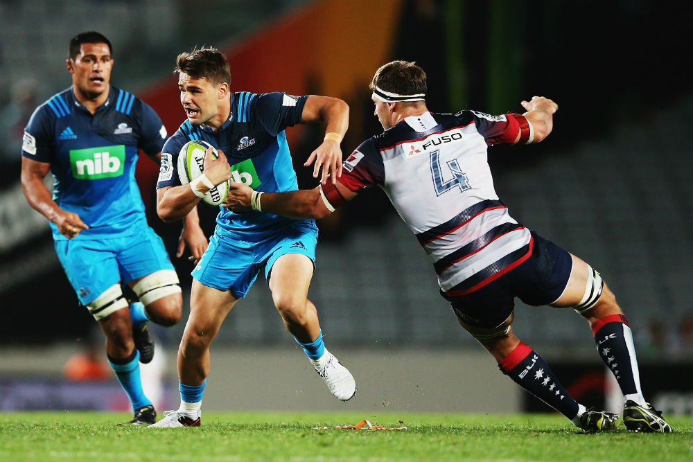 The Melbourne Rebels missed 30 tackles in their loss to the Blues. Photo: Getty Images