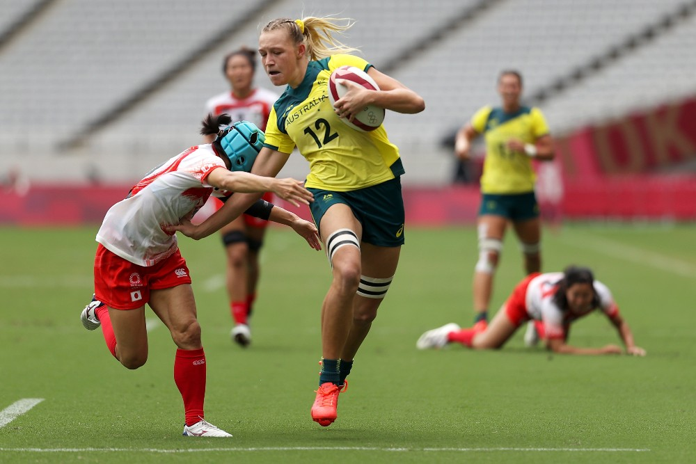 Maddison Levi got a double on her Sevens debut. Photo: Getty Images