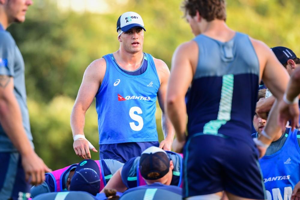 Junrio Wallabies backrower Will Harris training ahead of Australia's Oceania U20 clash against New Zealand. Photo: RUGBY.com.au/Stuart Walmsley