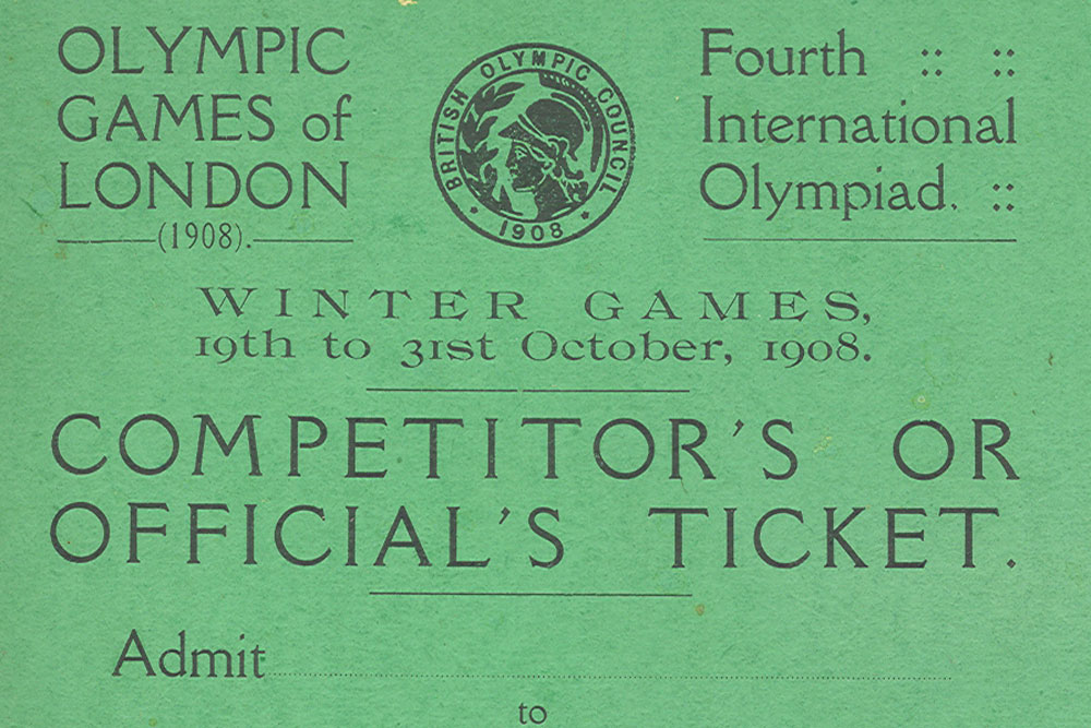 The official pass for the 1908 Olympics. Photo: Supplied