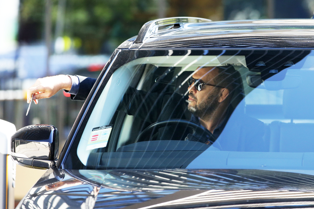 Michael Cheika leaves the Rugby Australia offices during Israel Folau's hearing. Photo: Getty Images
