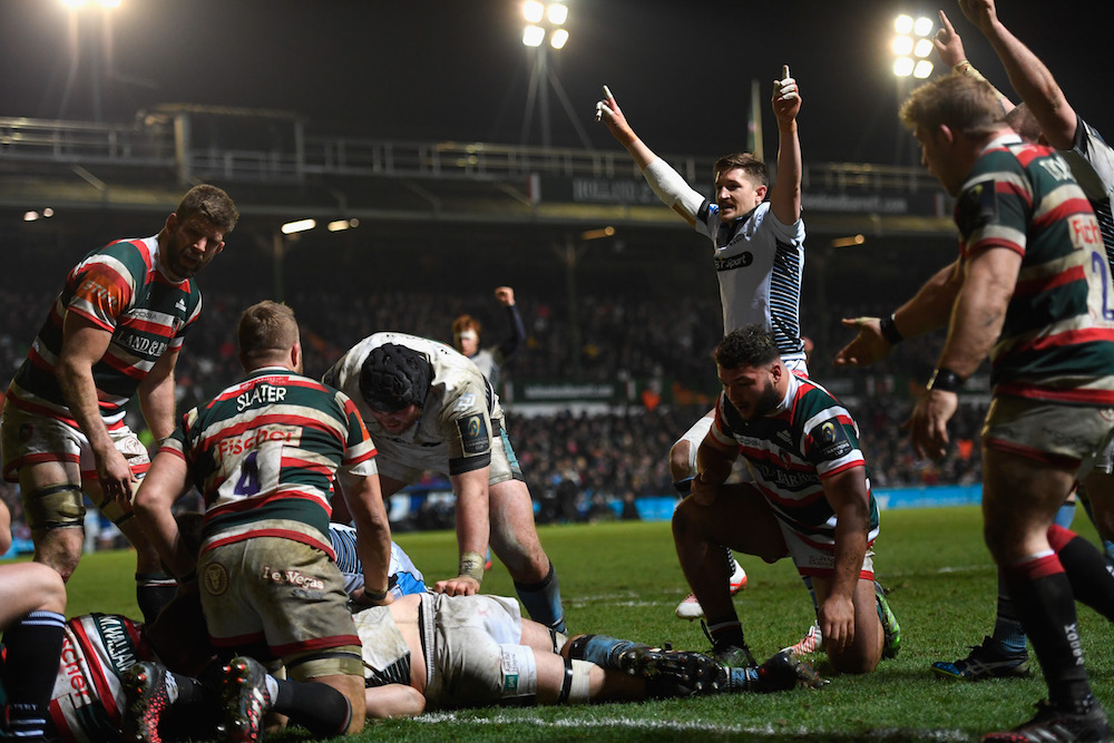Leicester Tigers humiliated by Glasgow going down by 43 points. Photo: Getty Images