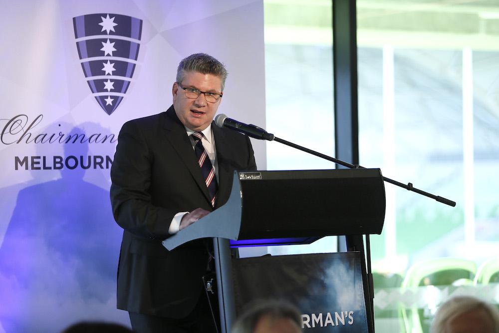 Melbourne Rebels Chairman giving speech
