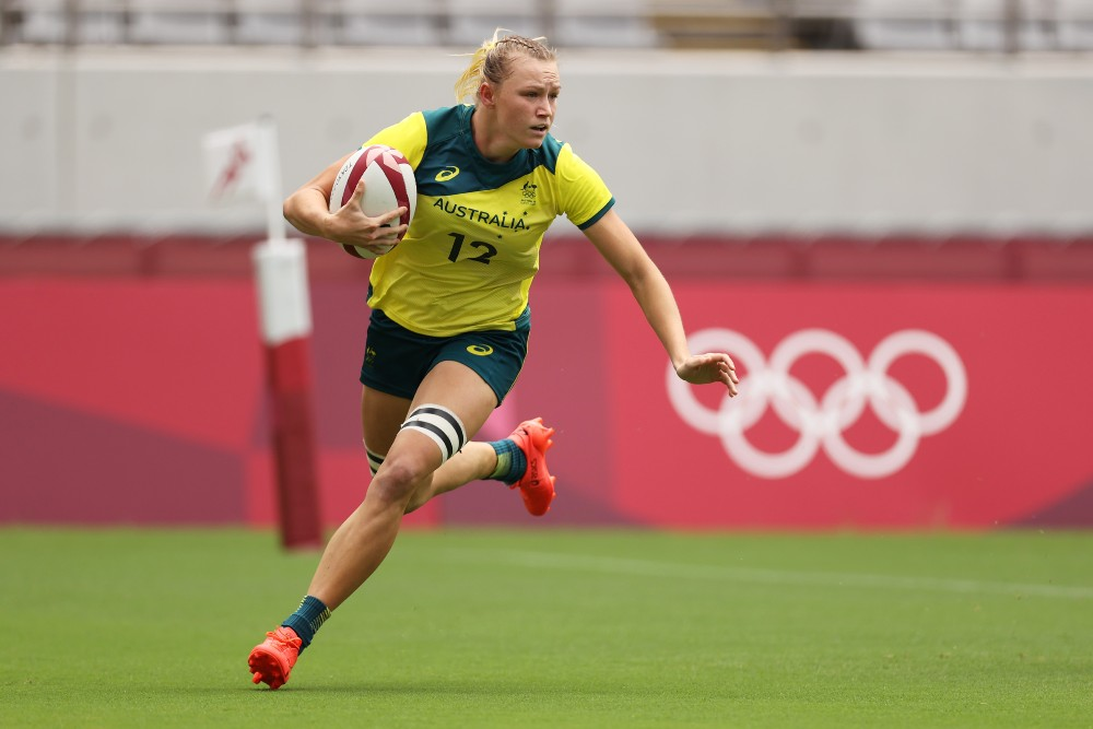 Maddison Levi scored one of five tries as the Aussies cruised to victory. Photo: Getty Images