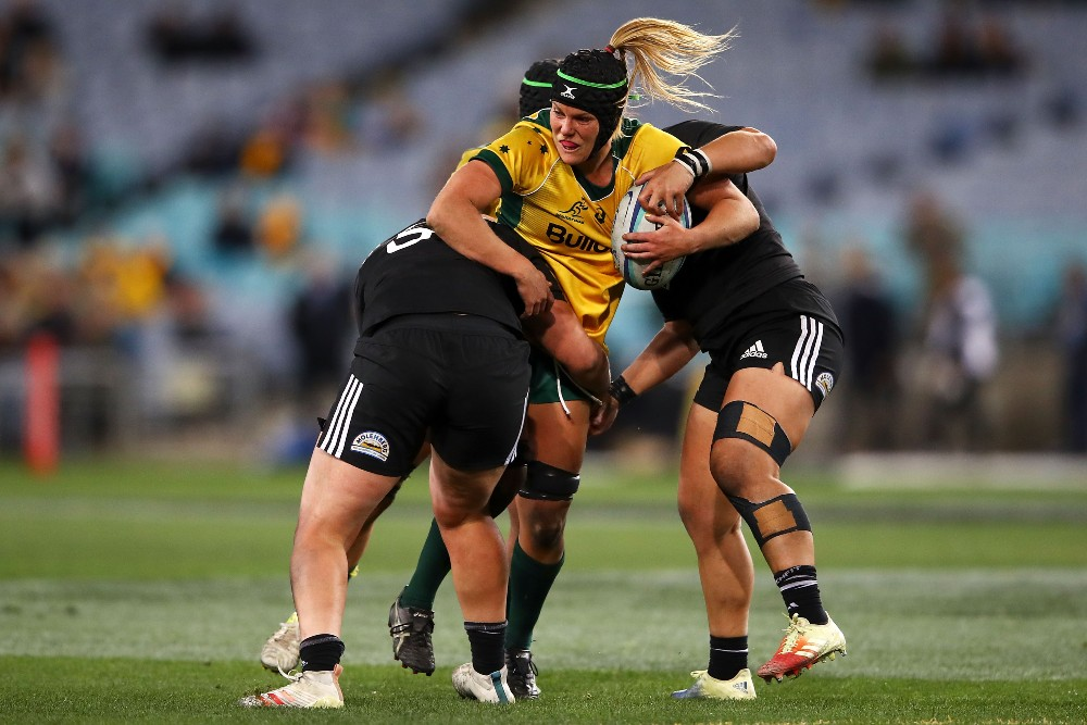 Emily Chancellor reflects on her Wallaroos debut in 2018. Photo: Getty Images