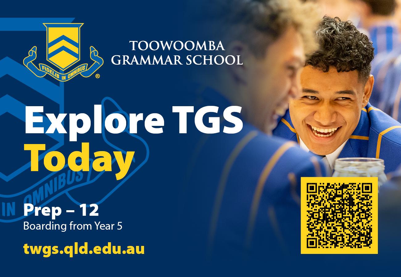 Toowomba Grammar School Ad