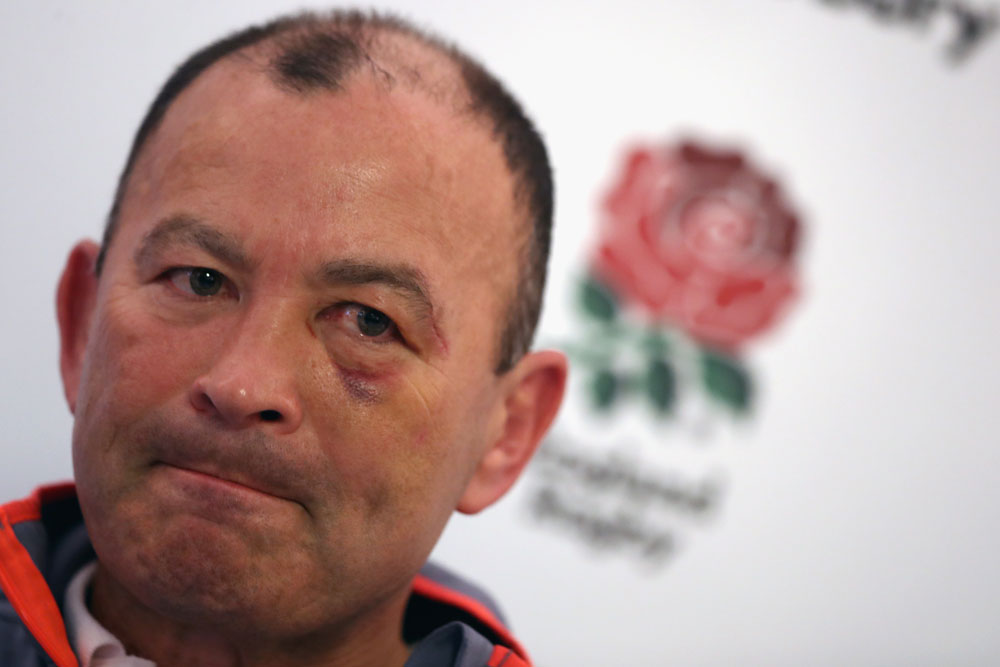 Eddie Jones isn't happy with the comments aimed at him and his team this week. Photo: Getty Images
