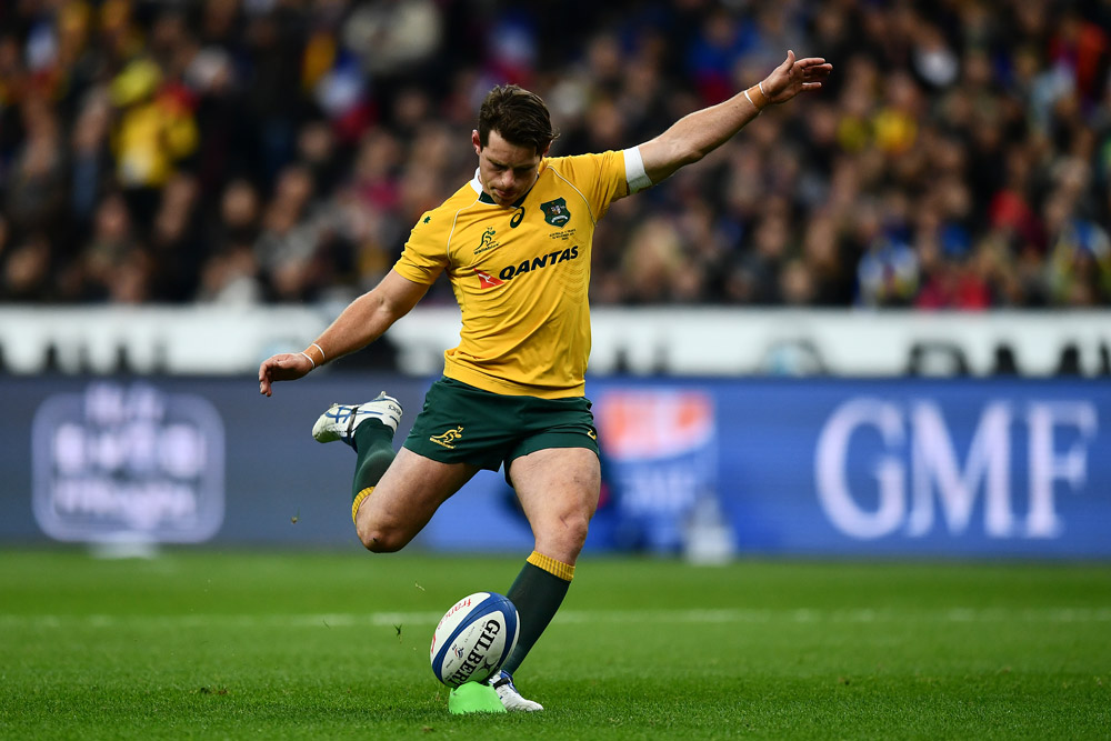 Bernard Foley kept the Wallabies ahead in the first half. Photo: Getty Images