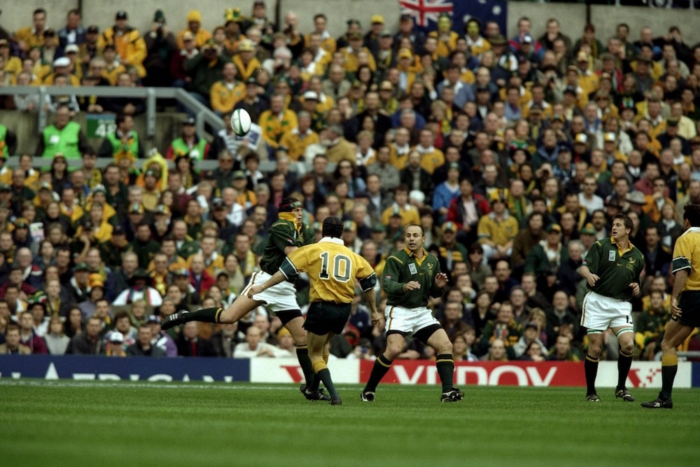 That moment at the 1999 Rugby World Cup. Photo: Getty Images