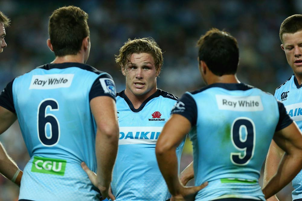 Michael Hooper is adamant the Waratahs are still in the finals race. Photo: Getty Images