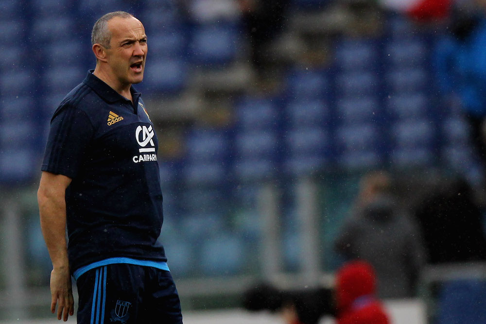 Italian Coach Conor O'Shea not happy. Photo: AAP