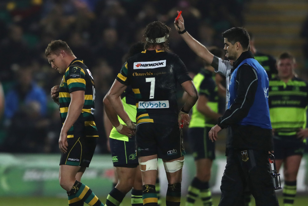 Dylan Hartley was red carded against leinster. Photo: Getty Images