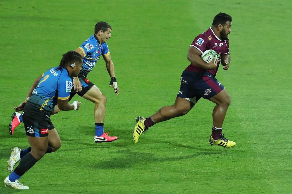 Taniela Tupou bursts away from the Western Force. Photo: Getty Images