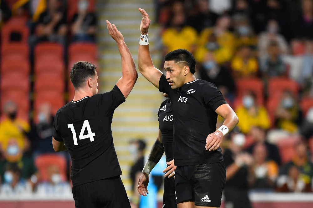 The All Blacks have turned their focus towards their centurion Test against South Africa with on hand on the Rugby Championship. Photo: Getty Images