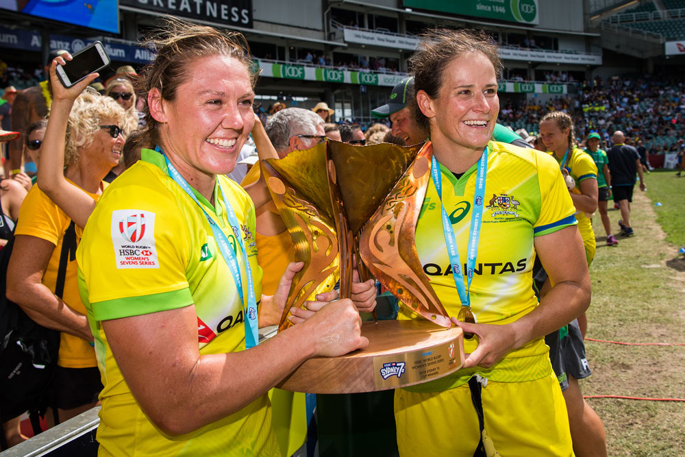 Australia's women's sevens team have received a boost with two gold medalists re-signing. Photo: RUGBY.com.au