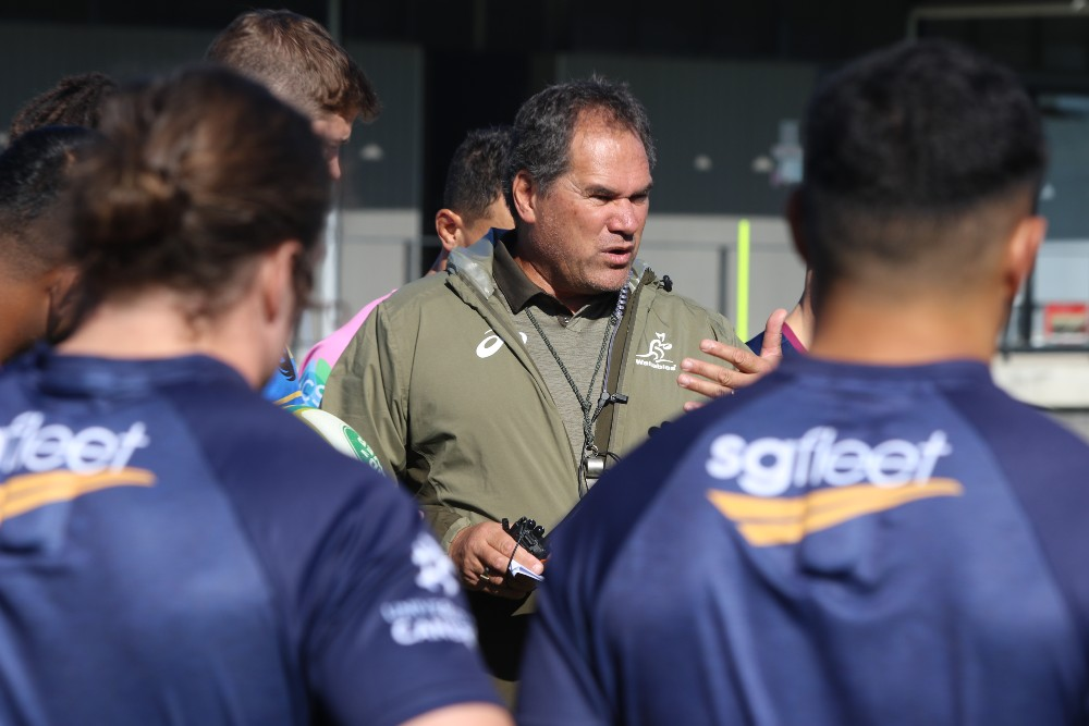 Dave Rennie looks over the Wallabies during a training camp | Andrew Phan/Wallabies Media