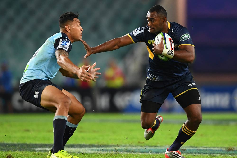 Israel Folau will have to step up defensively to usurp Tevita Kuridrani. Photo: Getty Images