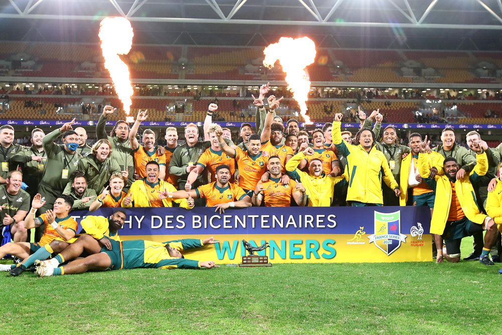 The Wallabies secured the Series after an epic decider. Photo: Getty Images