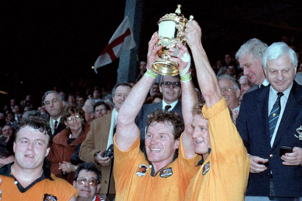RWC 1991 Trophy - Poidiven and Lynagh
