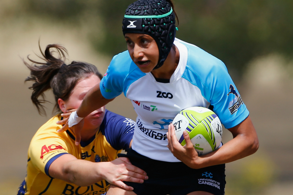 Cassie Staples was one of the future Aussie Sevens stars uncovered at last year's Aon Uni 7s. Photo: Getty Images