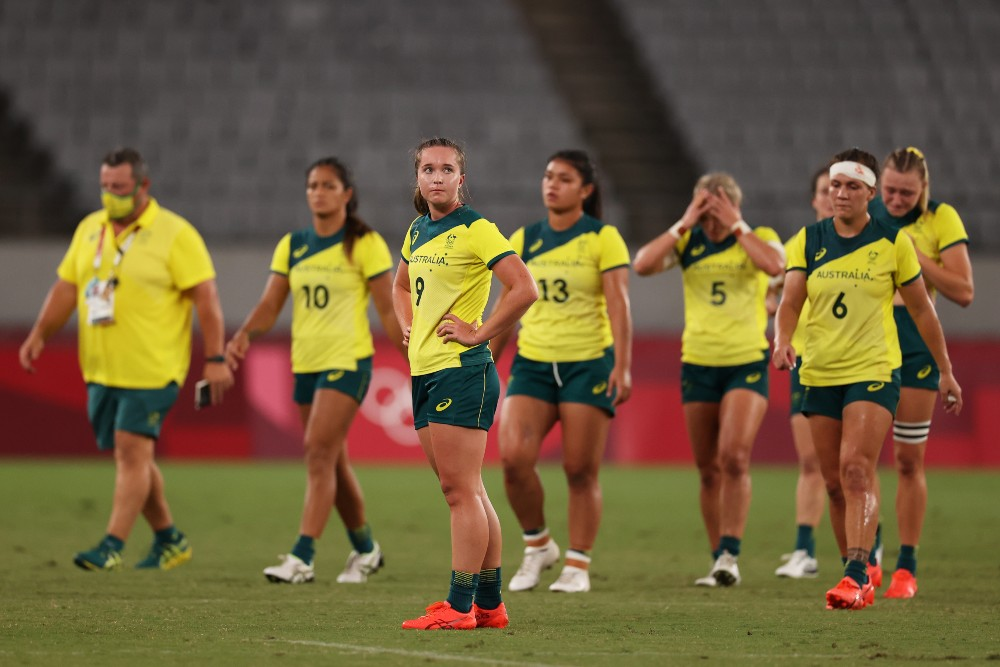 The Aussies have been knocked out by Fiji. Photo: Getty Images
