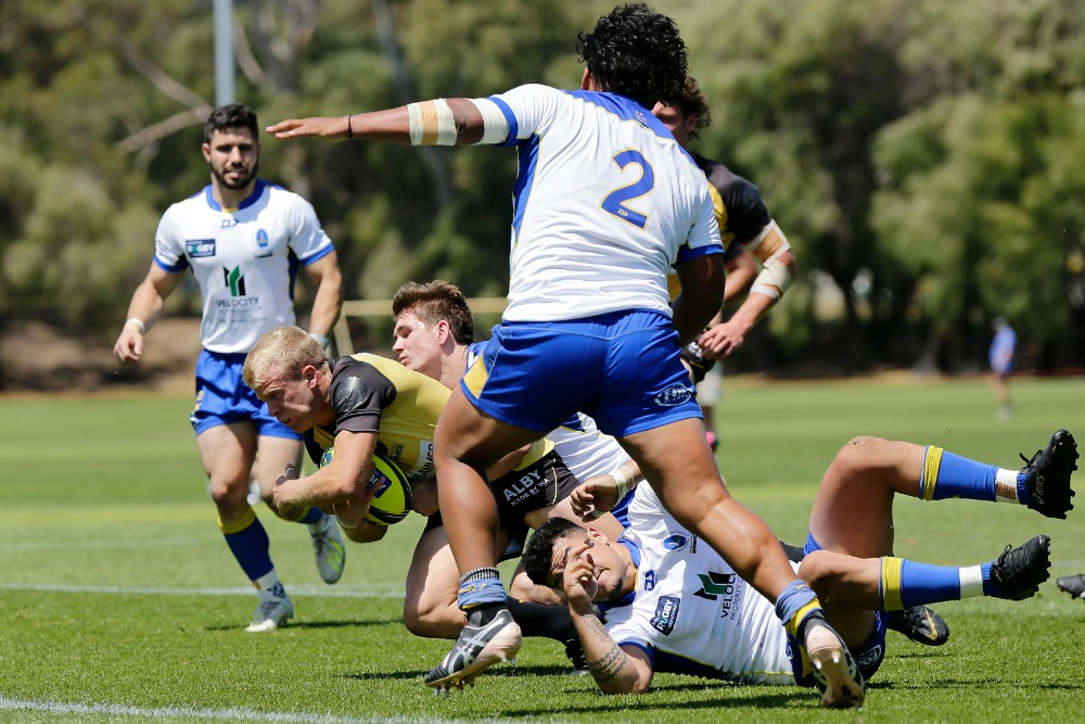 Andrew Deegan goes over for a pivotal try just before halftime. Photo: Getty Images