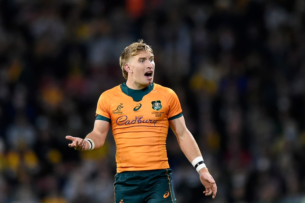 Tate McDermott gets his first start for the Wallabies. Photo: Getty Images