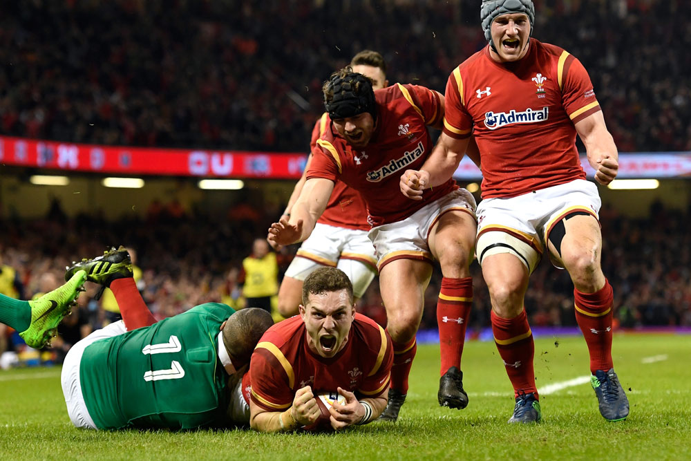 George North scores during the 2017 Six Nations. Photo: Getty Images