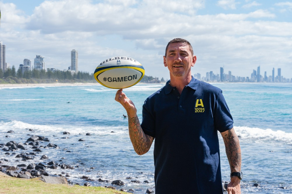 Mat Rogers has thrown his support behind the bid as the TRC heads to the Gold Coast. Photo: Stephen Tremain
