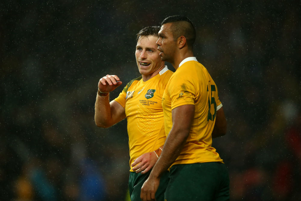 Kurtley Beale and Bernard Foley have formed a formidable partnership at International and Super Rugby level. Photo: Getty Images