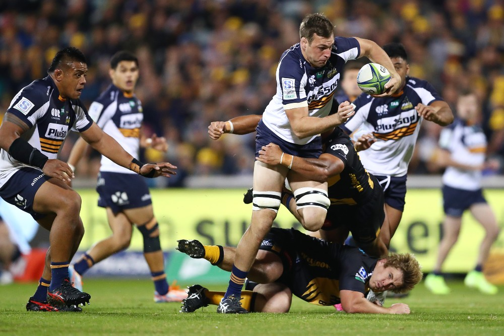 The Brumbies have backed young guns Nick Frost and Lachlan Lonergan ahead of the Final. Photo: Getty Images