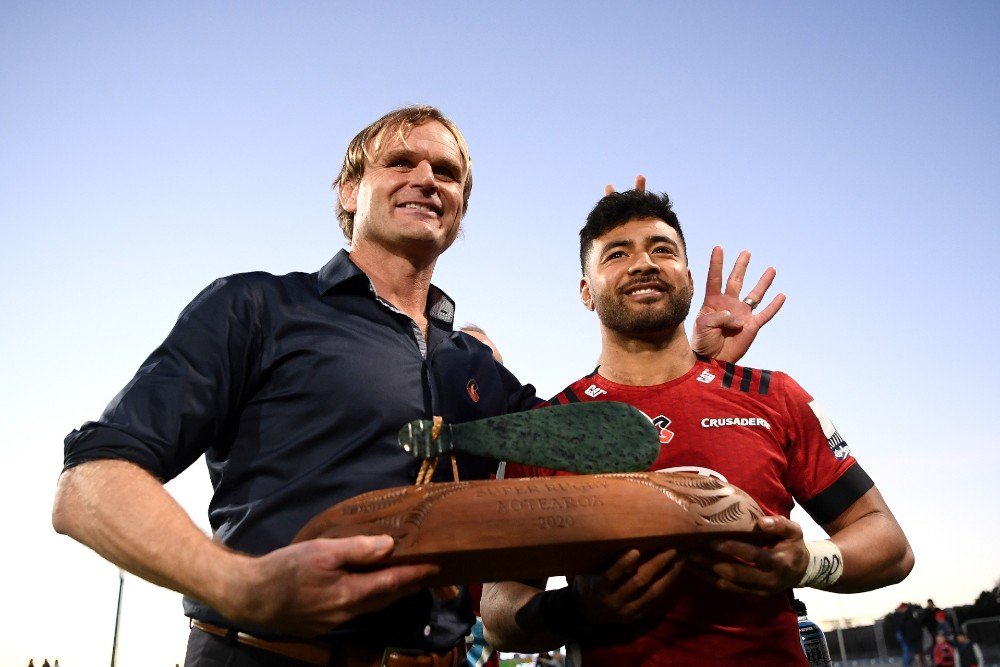 The Crusaders won the inaugural Super Rugby Aotearoa competition in 2020 following the suspension of the regular season. Photo: Getty Images