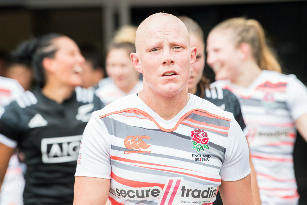 Heather Fisher and England have bombed out of Cup quarter finals. Photo: RUGBY.com.au/Stuart Walmsley