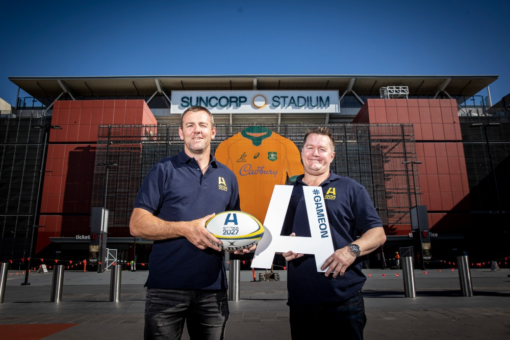 Wallabies legends Chris Latham and Elton Flatley have thrown their support behind Quade Cooper and the bid. Photo: Brendan Hertel.
