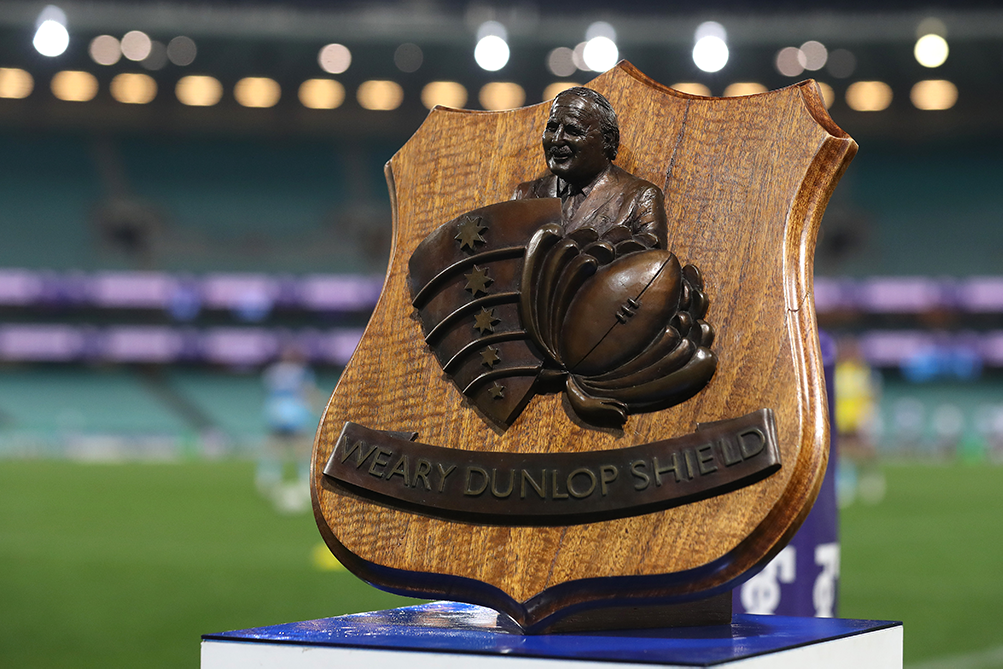 The Weary Dunlop Shield which the Melbourne Rebels and NSW Waratahs play for