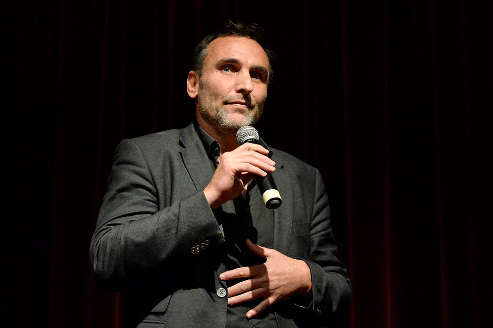 Ware speaks in 2015 after the screening of his film in West Hollywood. Photo: Getty Images