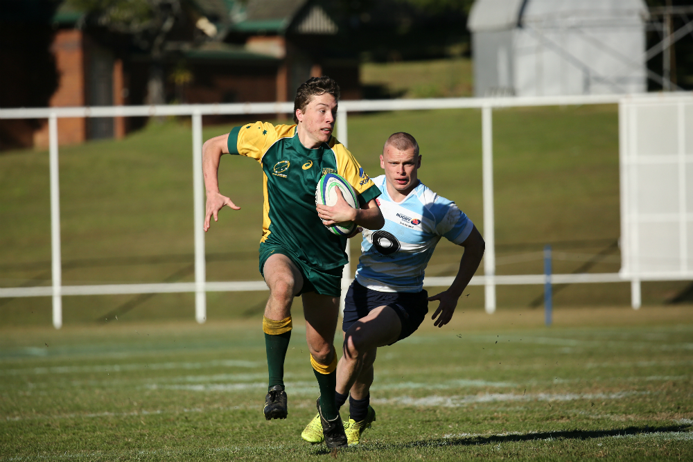 Combined States continued their strong form with a fifth place playoff win against NSW II. Photo: RUGBY.com.au/Karen Watson