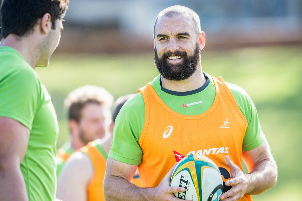 Scott Fardy has been training with the Wallabies in Perth.  Photo: ARU Media/Stu Walmsley