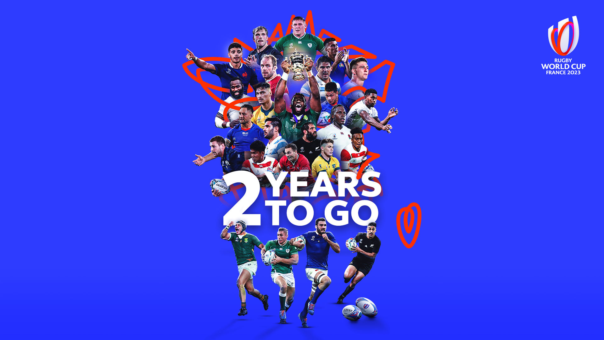 RWC France 2023 2 years to go graphic