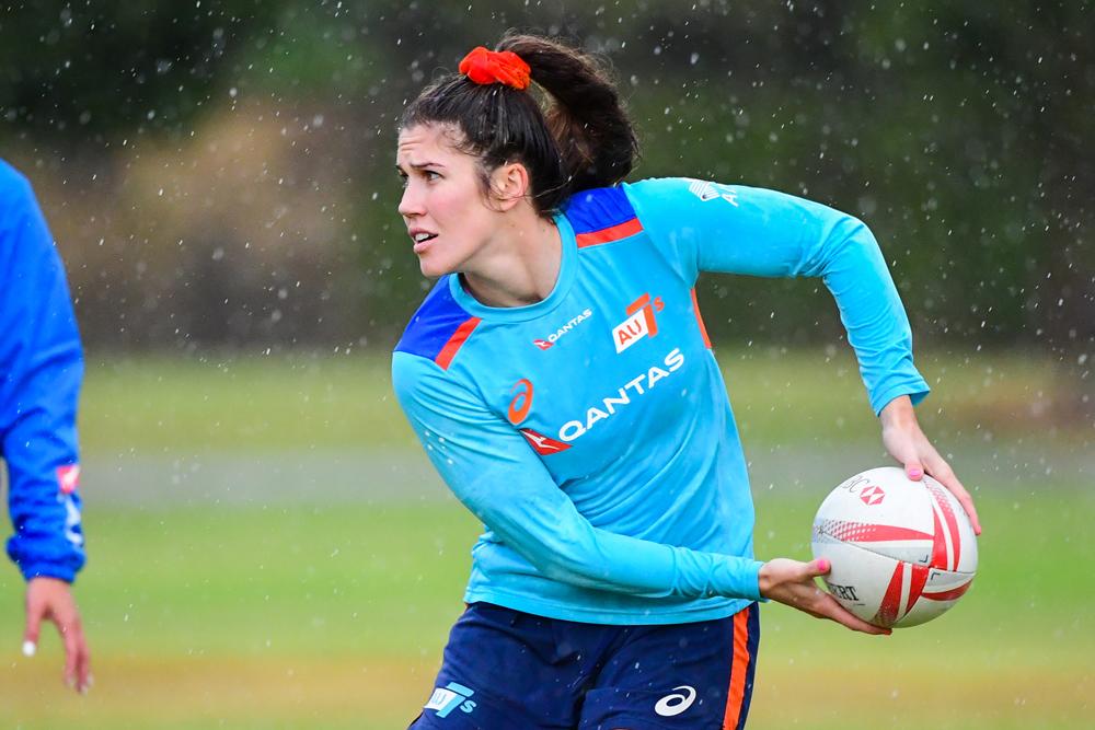 Charlotte Caslick at training. Photo: Rugby AU Media/Stu Walmsley