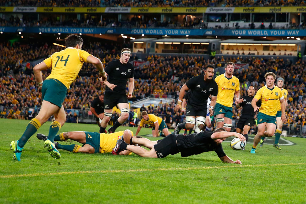 Dane Coles scored a try against the Wallabies. Photo: Getty Images